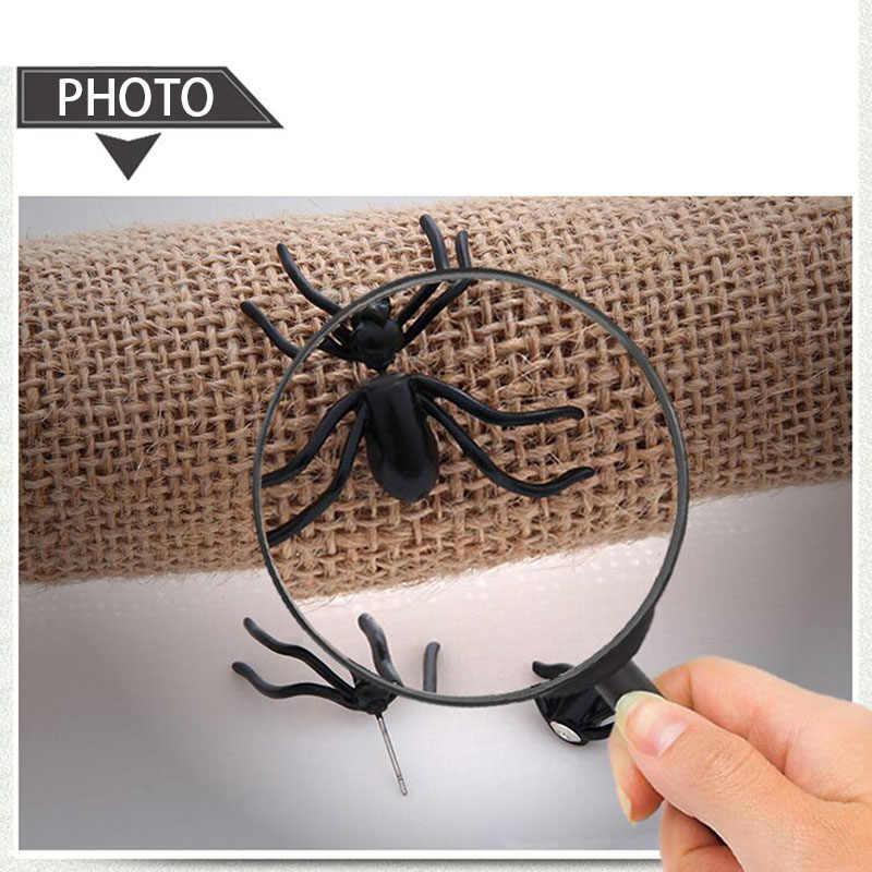 Украшение для Хэллоуина, 1 шт., 3D, жуткие черные серьги-гвоздики в виде паука для вечеринки Haloween, сделай сам, украшение для дома