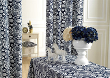 Cotton reactive printed cloth tablecloths curtains cushions custom finished [Pastoral]