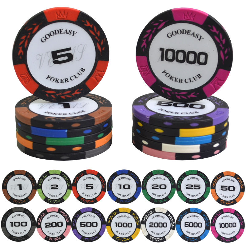 high quality 25pcslot wheat design casino coins texas clay - Poker Sets
