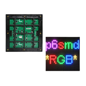 Image 2 - P6 Outdoor module 192*192mm SMD3535 32*32dots 1/8S Waterproof led screen panel for advertising LED display screen