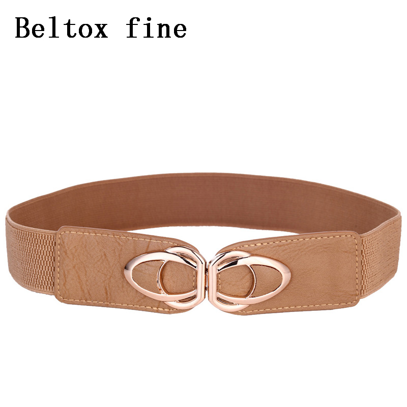Womens Belt Elastic Stretch Cinch Waistband Ornament Lady Cummerband Wide Belt Plus Size Black Brown Coffee Blue White Khaki in Women 39 s Belts from Apparel Accessories