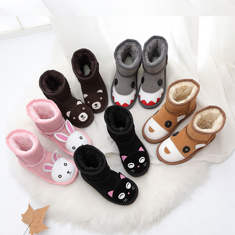 Celveroso Warm Kids Snow Boots For Children new Toddler Winter Child monsters Shoes Non slip Flat Round Toe Girls Baby boots