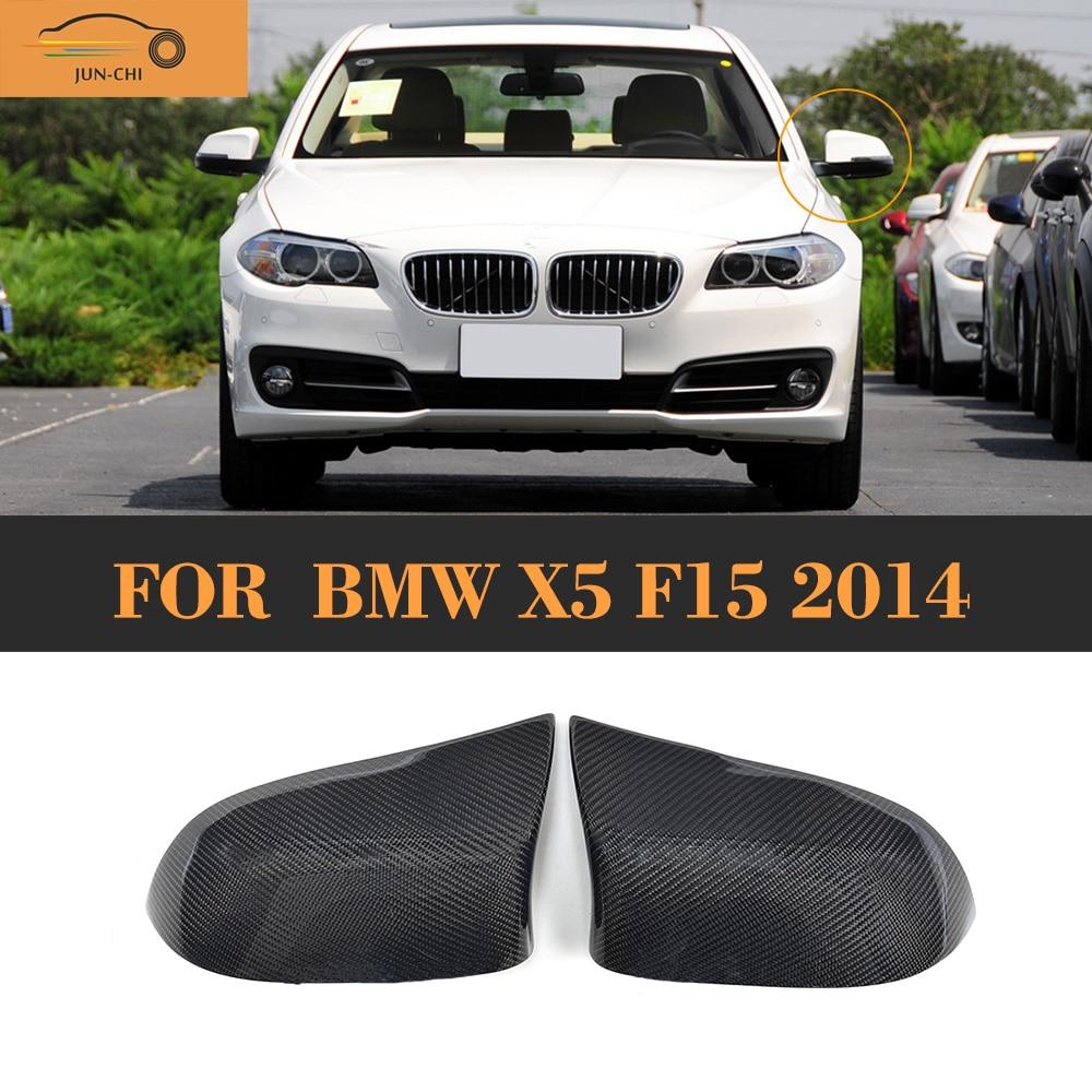 Углеродного волокна автомобиля боковые зеркала крыло авто зеркало щит для БМВ Х5 Ф15 Стандарт 2014 2015 2016 не М