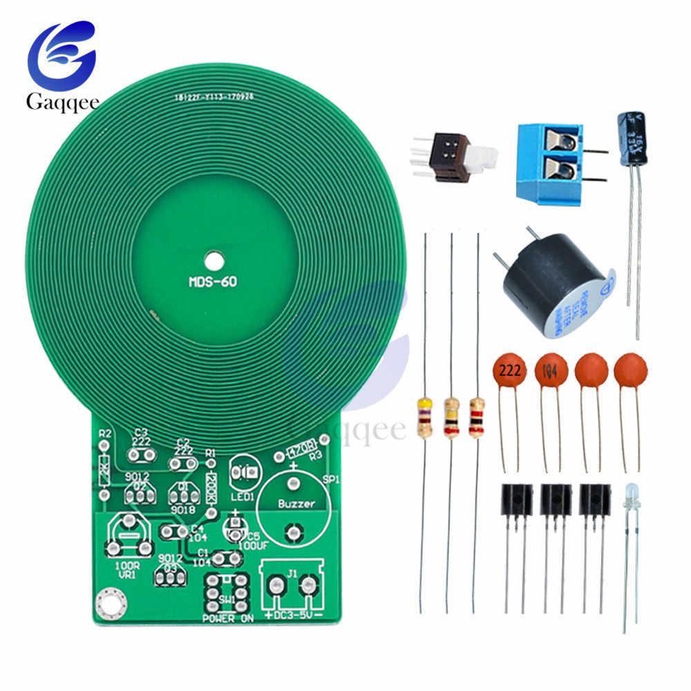Kit détecteur de métaux Kit électronique DC 3 V-5 V 60mm capteur sans contact Module de carte bricolage pièce électronique détecteur de métaux Kit de bricolage