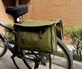 Saco Do Mensageiro Estilo intage Excedente Militar de Lona Verde Bicicleta Pannier-CN035