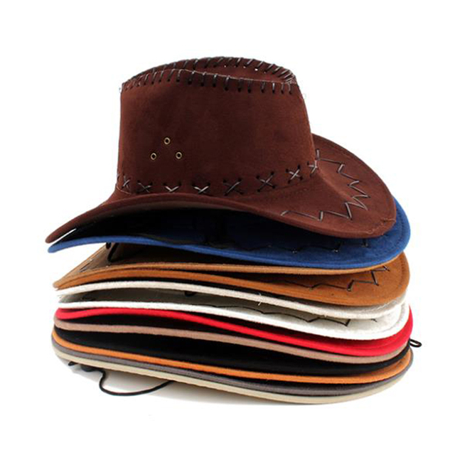 1 PZ Trasporto Libero Nuovo Look Wild West Fancy Dress Signore Degli Uomini  Cappello Da Cowboy 67975a1a7d77