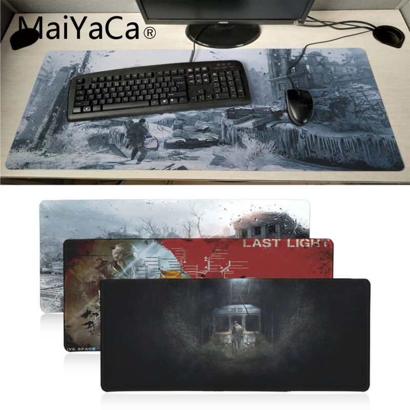 Maiyaca Vintage Cool Metro 2033 Rubber Pad To Mouse Game Laptop PC Computer Gaming Mat Large Mouse Pad Gamer Pad Mouse
