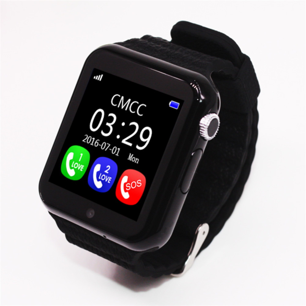 New V7K Bluetooth Smart Watch GPS Tracker Smartwatch Anti Lost Sleep Monitor Pedometer for Android IOS Phone Baby Gifts Watch new x6 smartphone watch 1 54 curved touch screen smartwatch phone facebook sync mp3 pedometer smart watch anti lost watches