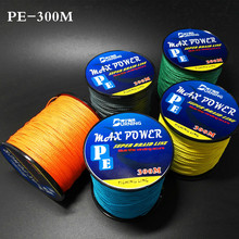 5 Colors Max Power Super Strong 300M 330Yards PE Braided Fishing Line 4 stands 8LB 10LB 20LB 60LB Multifilament Fishing Line