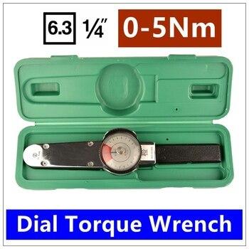 MXITA Mxita tools 1/4 0-5Nm Dial torque spanner High-precision pointer torque wrench