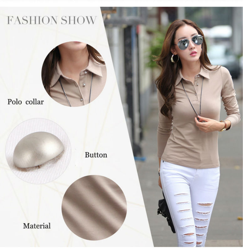 01 womens long sleeve polo shirt