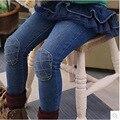 Popular Baby Girl Jean Pantskirt Ruffle Hem Pineapple Pattern Patchwork Kid Solid Denim Pant Princess Style Child Autumn Trouser
