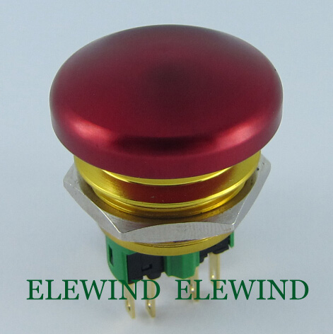 все цены на  ELEWIND 22mm 1NO1NC Momentary Mushroom big button push button switch(PM221-11M)  онлайн