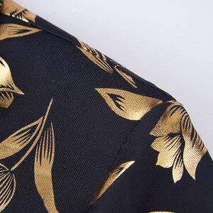 Image 4 - Pyjtrl Thời Trang Vàng Hoa Tulip Hoa Văn Cổ Áo Nam Phù Hợp Với Áo Khoác Anh Quý Ông Cưới Chú Rể Mỏng Phù Hợp Với Thời Trang Phối Trang Phục