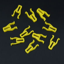 xiaobaishu 50Pcs Auto Fasteners Car Control Panel Dashboard CD Player Clips Universal Plastic Fastener Clip HE08 Yellow