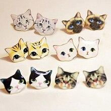 1Pair Women Fashion Lovely Cat Delicate Handmade Cartoon Stud Earrings Jewelry