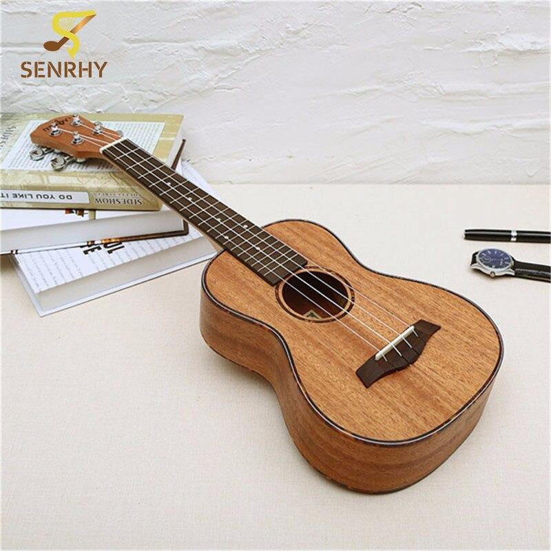 23 дюймов 4 строки из красного дерева Гавайские гитары укулеле палисандр гриф & Bridge Гитары музыкальный инструмент для Гитары любители музыки ...