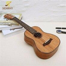 23 дюймов 4 струны красного дерева Гавайские гитары укулеле палисандр гриф и МОСТ гитара; музыкальные инструменты для гитары любителей музыки подарок