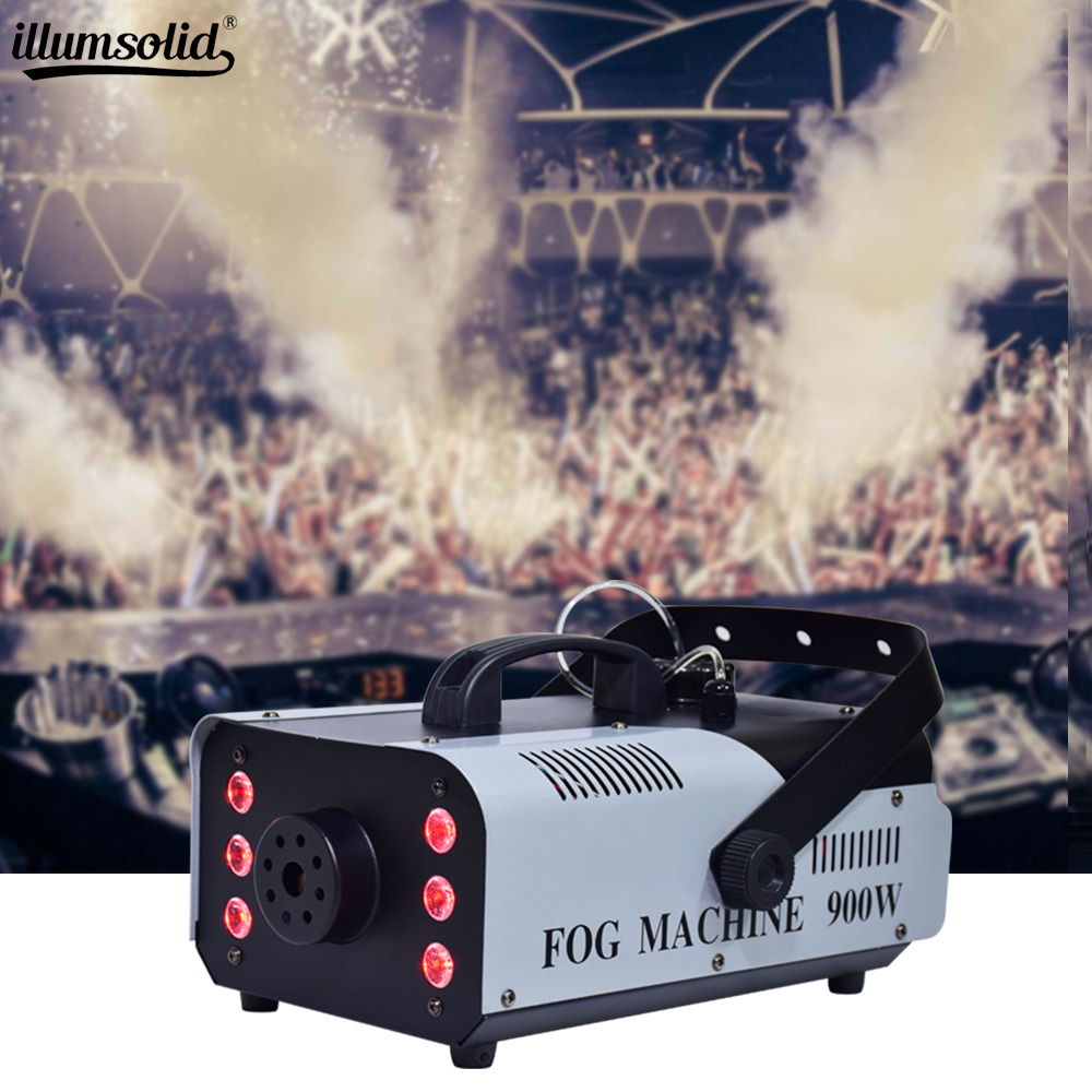 900w RGB disco colorful smoke machine LED remote fogger ejector dj Christmas party stage light fog machine fast shipping900w RGB disco colorful smoke machine LED remote fogger ejector dj Christmas party stage light fog machine fast shipping