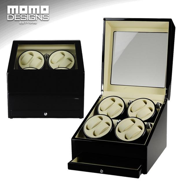 HIGH END relógio enrolador para 8 relógios automáticos de relógio de MADEIRA caixa de armazenamento com motor MABUCHI enroladores