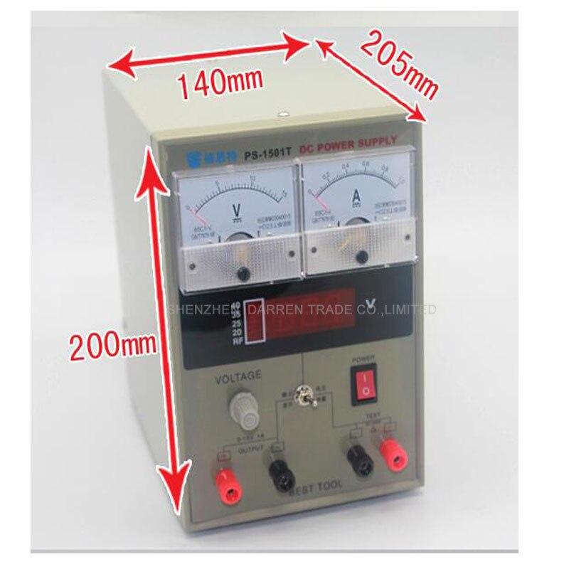 1 PC  110220V BEST-1501T 15V 1A Regulated DC Power Supply mobilephone repair test equipment