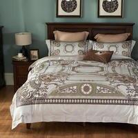 Из египетского хлопка белый комплект постельных принадлежностей королева размер boho одеяло крышка Роскошные покрывало мягкий пододеяльник
