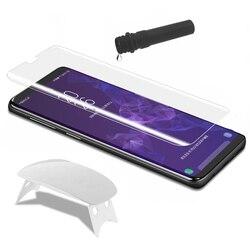 Płyn UV klej osłona ekranu ze szkła hartowanego dla iPhone XR X XS Max 2 sztuk + 2 sztuk klej + 1 duże światło na całą folię
