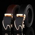 Moda Hombres de la Marca de Lujo Correa de Negocios Cinturones de Hebilla Automática Correa de Cuero Genuina de Los Hombres Accesorios de La Correa de Cintura Ocasional 15 Estilo