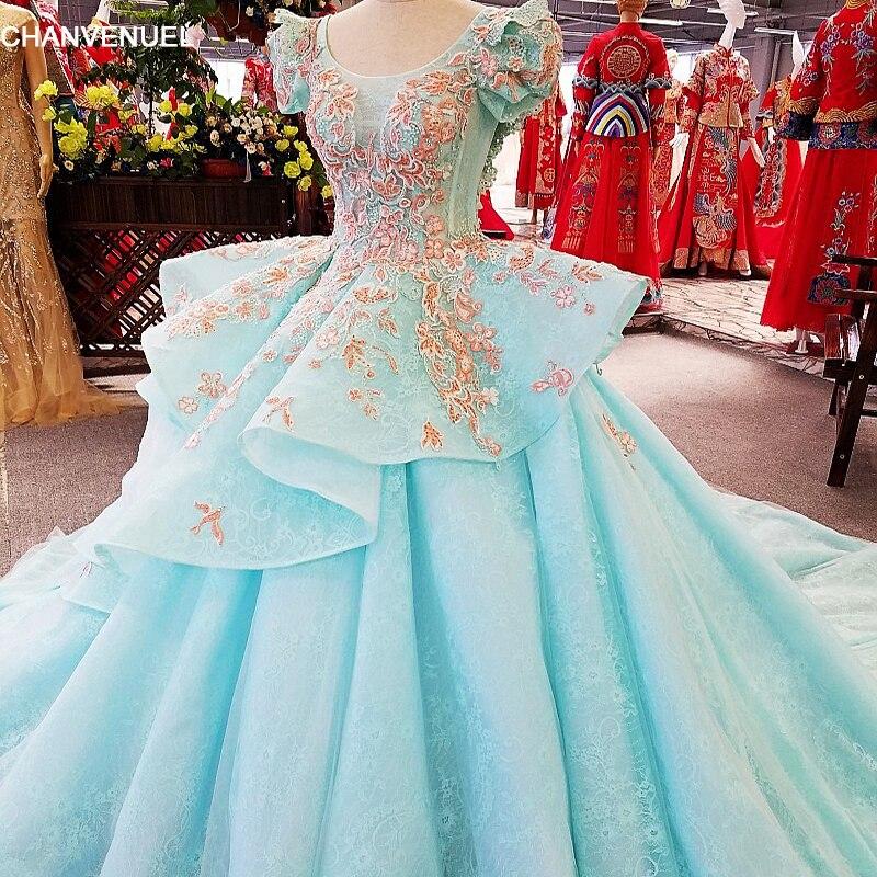 LS00384 robe de soirée princesse 2017 avec manches bouffantes robe de bal vestidos de fiesta largos elegantes de gala robe de soirée