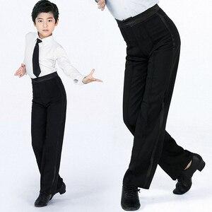 Image 4 - Pantalones de baile modernos para hombre, pantalón de baile latino, Salsa, Tango, Rumba, Samba, Cha, profesional, de baile negro
