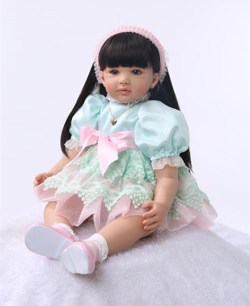 Pursue 24/60 cm On Sale Baby Alive Vinyl Silicone Reborn Toddler Princess Girl Baby Doll Toys for Children Girls Birthday Gifts adorable curly brown hair vinyl silicone reborn toddler princess girl baby alive doll toys with soft cloth body birthday gifts