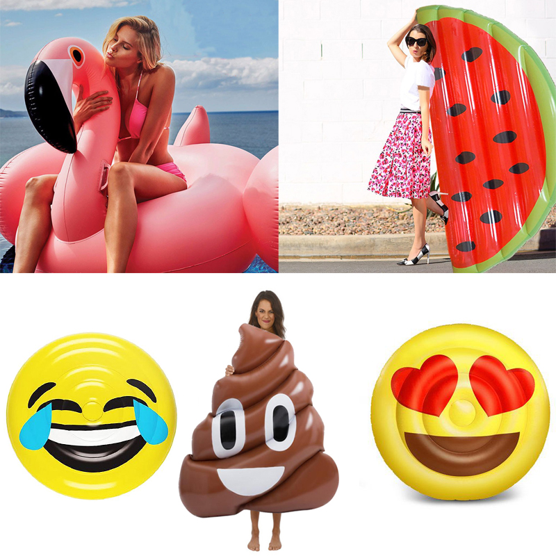22 Style Giant Inflatable Pool Float Ride-on Watermelon Pineapple Flamingo Swan Swimming Ring Child&Adult Water Toy boia piscina inflatable black swan pool float swimming pool ring summer inflatable toys for adult child water flotadores para piscina