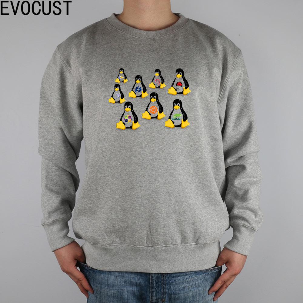 Arch Linux Intel Penguin Jokerman Mentors Funny Tux Shokunin men Sweatshirts Thick Combed Cotton