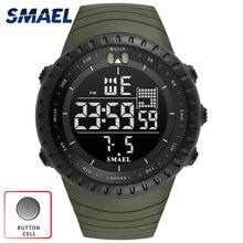 SMAEL 2017 Top marque de luxe Montre Numérique Hommes Horloge militar armée Vert Noir Grand Étanche LED Sport relogio masculino numérique