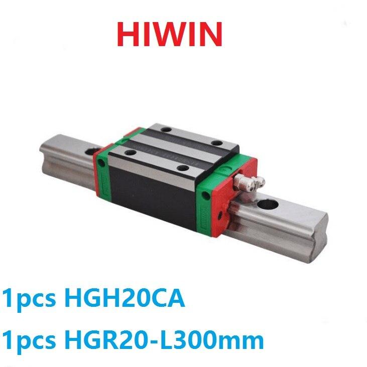 1pcs 100% original Hiwin linear rail guide HGR20 -L 300mm + 1pcs HGH20CA linear narrow block for cnc router original 1pcs ssg45c40