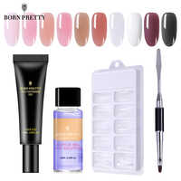 BORN PRETTY 4 Pcs/Set Pink Nude Nail Quick Building Poly Nail Gel Set 20ml Jelly Builder Finger Extension UV Gel Lacquer