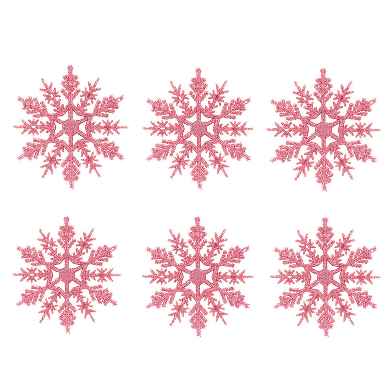 6pc Christmas Decoration Snowflakes 10cm Classic Snowflake Ornaments Christmas Tree Hanging new year Home Decor #4n14 (11)