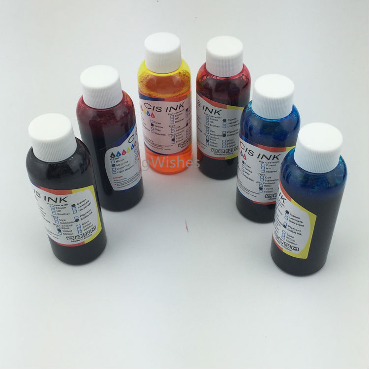 Factory Price 100ML x 6PCS T0811-T0816 Edible Ink For Epson R390 RX590 R270 RX690 RX610 RX615 R290 R295 Printer
