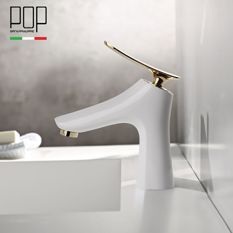 POP Bathroom Vanity Faucet, Free shipping Single Handle Lever Basin Faucets Hot and Cold Basin mixer Tap free shipping golden white basin mixer faucet single handle bathroom pull out vanity sink faucet hot and cold tap