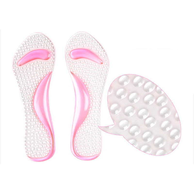 500pcs/lot New Shoes Insoles Gel heel insert 3/4 Lady Shoe Pad With Non-Slip Arch Support And Cushion Orthotics Feet Care brand gitibaba lady high heel shoes summer plantillas gel insoles 3 4 anti slip feet care health orthopedic insoles arch new