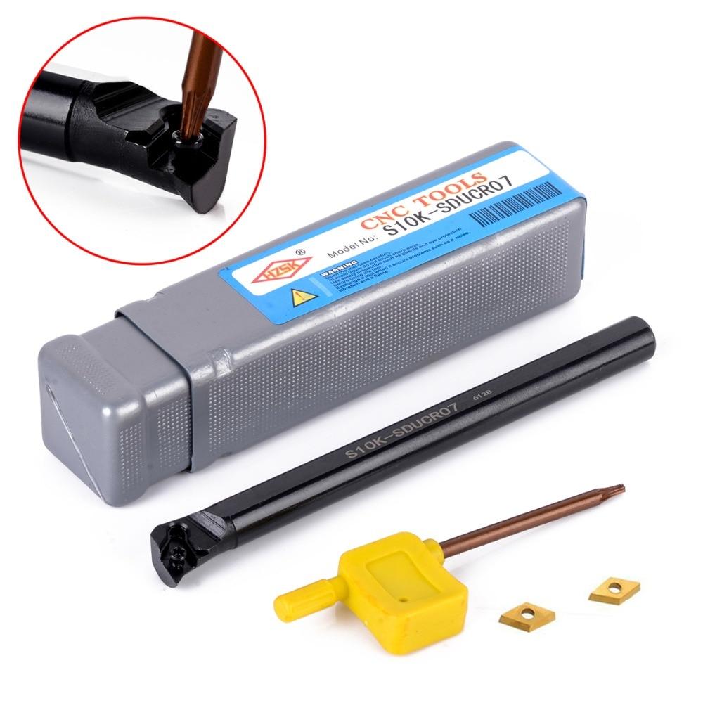 S10K SDQCR07 10*125mm Lathe Turning Tool Holder Boring Bar For DCMT0702 CNC
