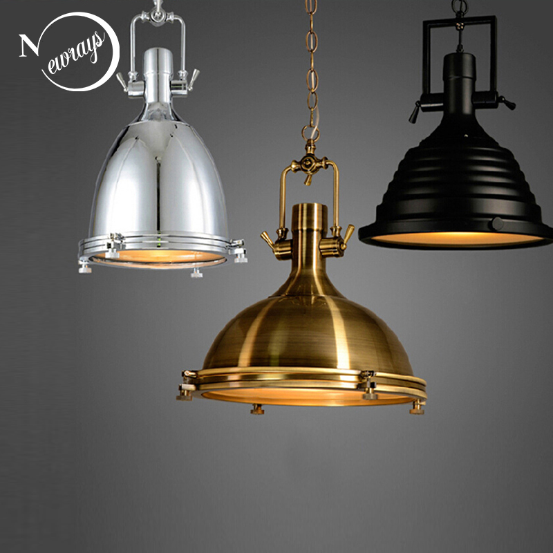 3 Style Loft Retro Industrial Hanging Hardware Metals Pendant Lamp Vintage E27 LED Lights For Kitchen Bar Coffee Light Fixtures