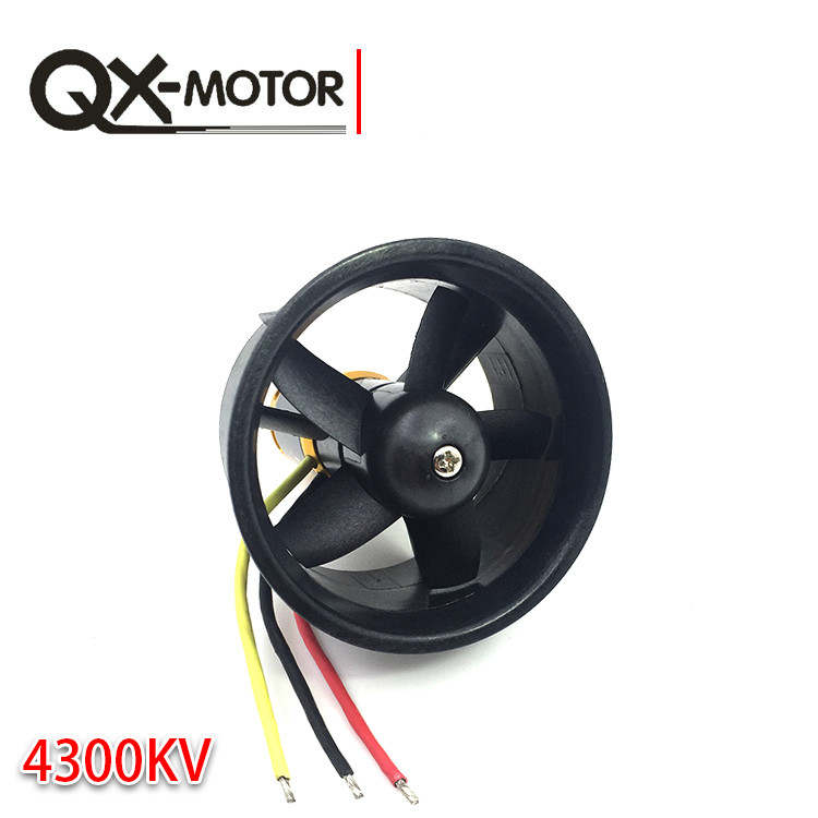 купить QX Motor 64mm EDF Ducted Fan Set 5 Blades Electric with 3-4s 4300KV Brushless Motor Outrunner QF2822 for Jet AirPlane F22130 по цене 1422.42 рублей