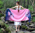 2016 Spring women shawl bohemian peacock printing Jacquard fringe tassel beach scarf long wide wrap women scarf 60*200cm