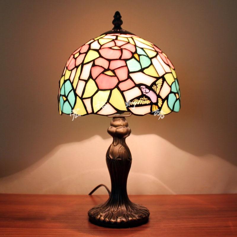 Superior European Style Garden Bird Small Bedside Lamp Bedroom Table