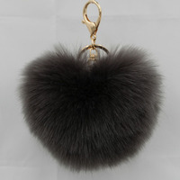 Fashion keychain Ball Key chains fur keyring porte clef Key Chain For Bag Charm Women Trinket Toy Key Ring Wholesale 15PCS/LOT