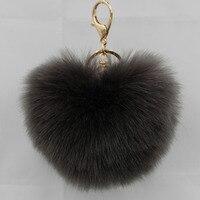Fashion keychain Ball Key chains fur keyring porte clef Key Chain For Bag Charm Women Trinket Toy Key Ring Wholesale 15PCS/LOT