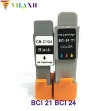 2pk For Canon BCI 21 BCI 24 Ink Cartridge For Canon BCI21 BCI24  BJC 2000 2100 2115 2120 400 410 400j 4000 PIXMA iP2000 Printer цена