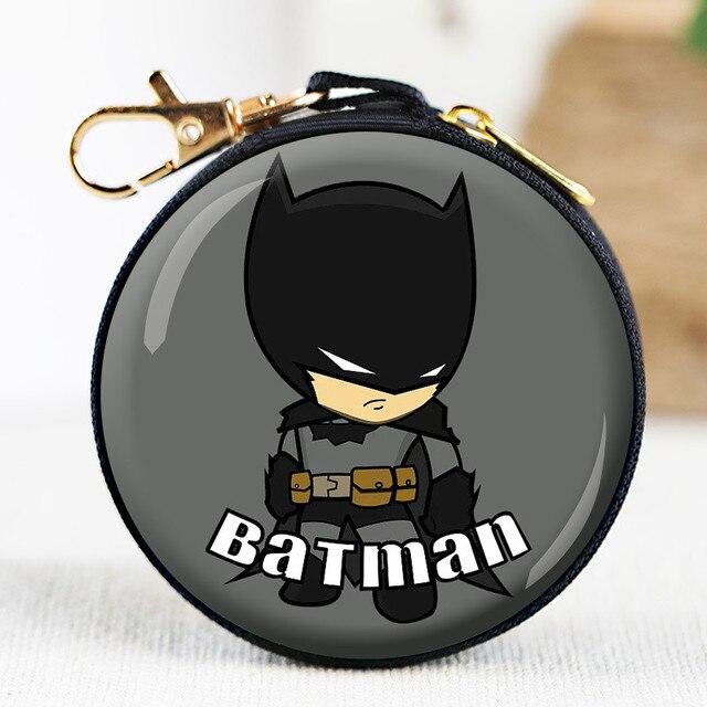Homem Vingador Liga pacote linha de dados fone de ouvido pacote de zero carteira Spiderman Batman homem de ferro brinquedo animação de zero carteira