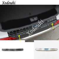 For Hyundai Santa Fe SantaFe 2019 2020 car external rear bumper trim frame styling cover detector stainless steel plate pedal